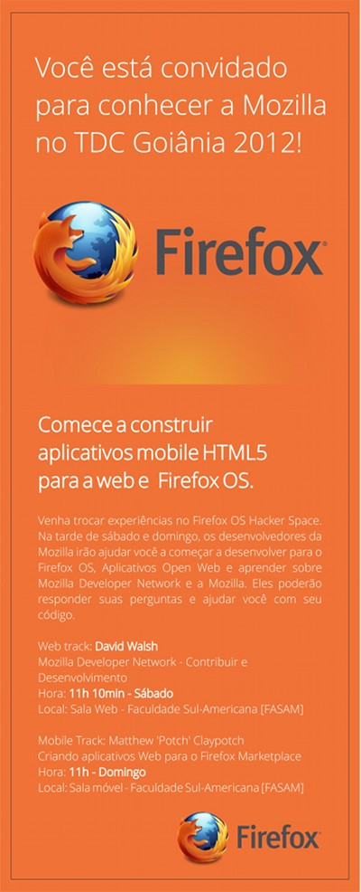 Mozilla no TDC 2012 SP